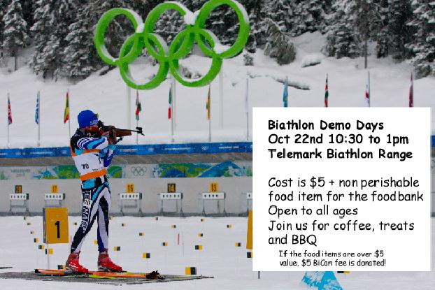 Invitation to the West Kelowna Telemark Biathlon Ski Team demo day on Oct. 22, 2011