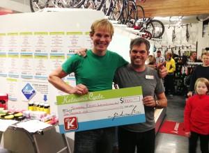 Kelowna Cycle $1000 Cyclo-cross race donation