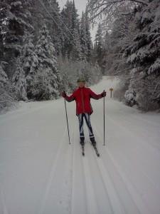 Scott at the start of Telemark