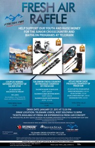 Fresh Air Experience Ski Experience Raffle in support of the Telemark Junior Race and Biathlon Teams