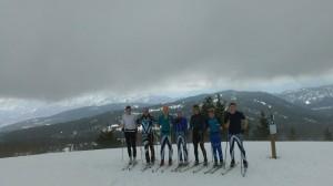 Telemark Junior Racing 2013 Ski Nationals team: Dana Allen, Veronica Dimova, Alexander Myshak-Davis, Madeleine Ertel, Kurt Behnsen, Gareth Williams, David Walker.  Missing: Jasper McKenzie.