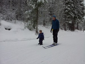 Andrew's First Ski 20 months
