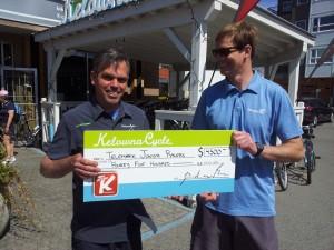 Kelowna Cycle $4500 donation
